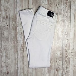 American Eagle Outfitters White Denim Jeggings